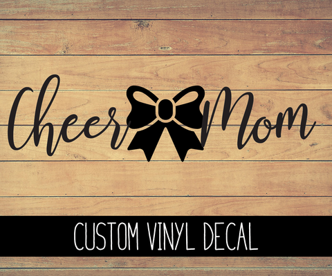 Cheer Mom Vinyl Decal