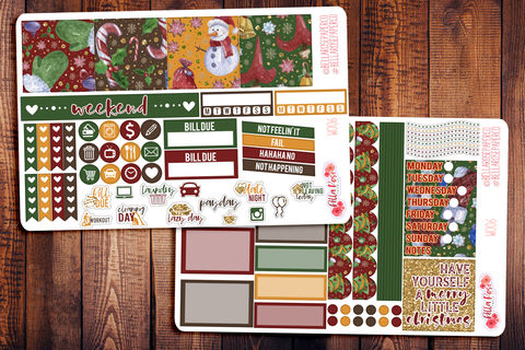 Merry Little Christmas Mini Happy Planner Sticker Kit W006