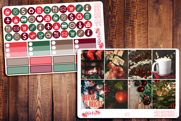 Christmas Photo Planner Sticker Kit W206
