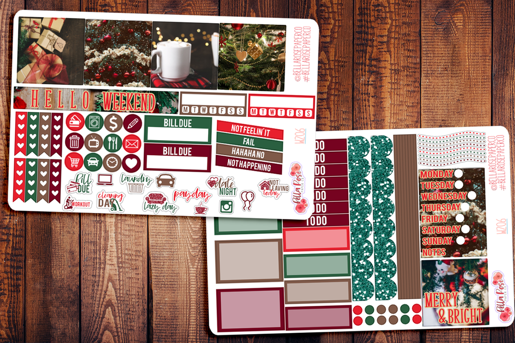 Christmas Photography Mini Happy Planner Sticker Kit W206