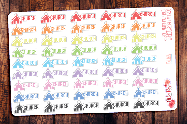 Church Planner Stickers DI065