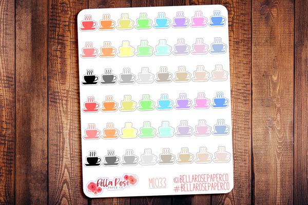 Coffee Mini Icon Planner Stickers MI033