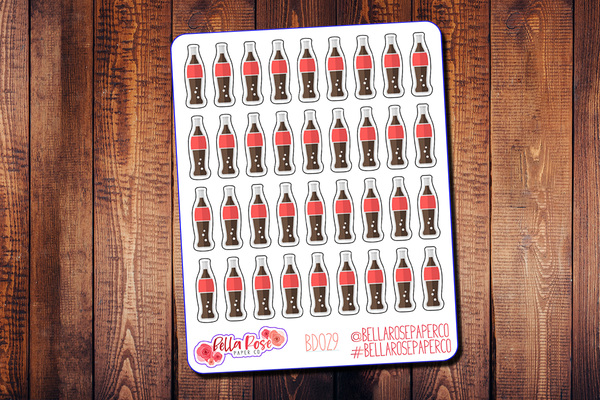 Cola Soda Planner Stickers BD029