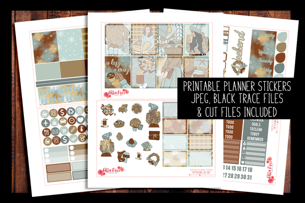 Cozy Winter Planner Kit | PRINTABLE PLANNER STICKERS