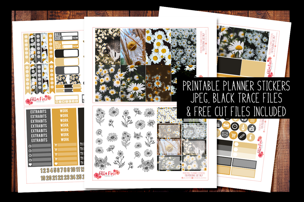 Daisy Photo Happy Planner Kit | PRINTABLE PLANNER STICKERS
