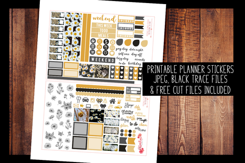 Daisy Photo Hobonichi Weeks Kit | PRINTABLE PLANNER STICKERS