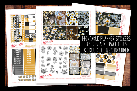 Daisy Photo Planner Kit | PRINTABLE PLANNER STICKERS