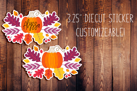 Fall Breeze & Crisp Laves Matching Customizeable Diecut Sticker