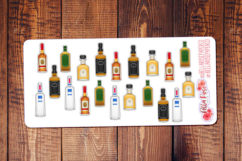 Alcoholic Drinks Planner Stickers