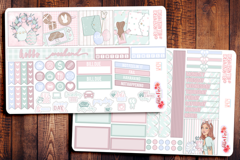 Easter at Home Mini Happy Planner Sticker Kit W404