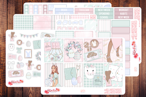 Easter at Home Planner Sticker Kit W404