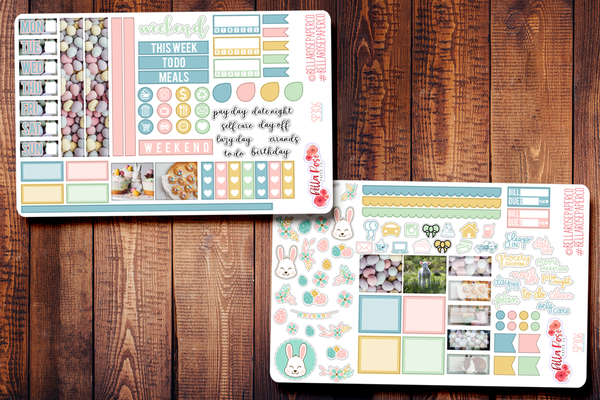 Easter Day Photo Hobonichi Weeks Sticker Kit SP305