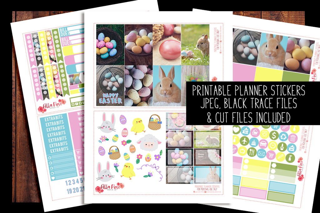Easter Photography Happy Planner Kit | PRINTABLE PLANNER STICKERS