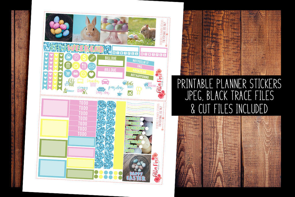 Easter Photography Mini Happy Planner Kit | PRINTABLE PLANNER STICKERS