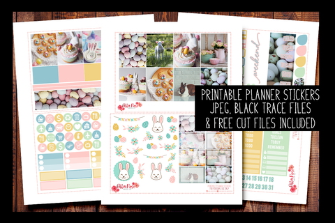 Easter Day Photo Planner Kit | PRINTABLE PLANNER STICKERS