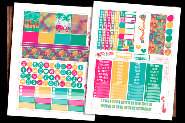 Summer Festival Planner Kit | PRINTABLE PLANNER STICKERS