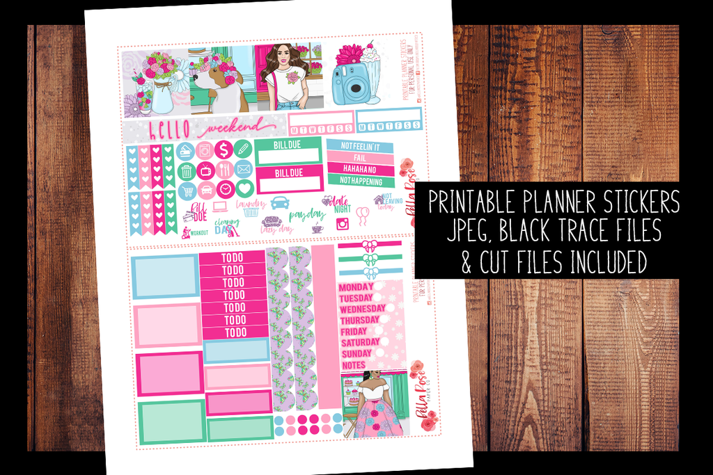 Floral Shop Mini Happy Planner Kit | PRINTABLE PLANNER STICKERS
