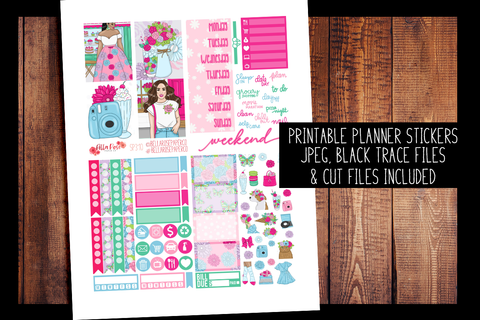 Floral Shop Mini Planner Kit | PRINTABLE PLANNER STICKERS