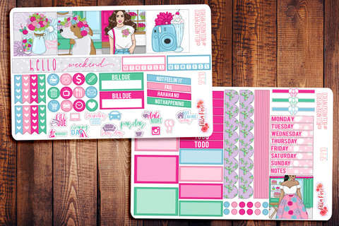 Floral Shop Mini Happy Planner Sticker Kit SP310