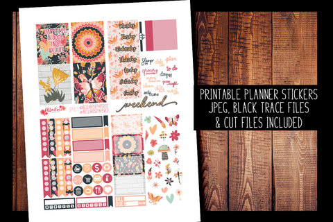 Full Bloom Mini Planner Kit | PRINTABLE PLANNER STICKERS