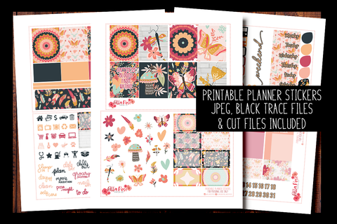 Full Bloom Planner Kit | PRINTABLE PLANNER STICKERS