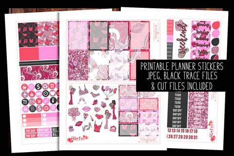 Galentine's Day Happy Planner Kit | PRINTABLE PLANNER STICKERS