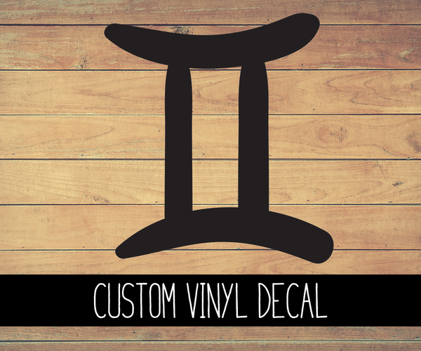 Gemini Sign Vinyl Decal