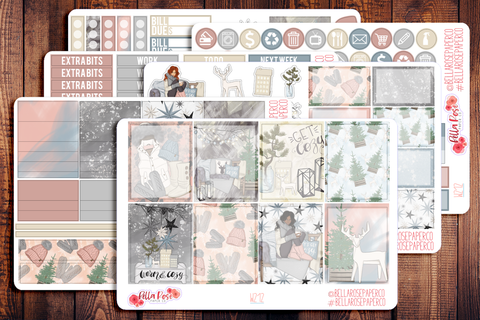 Get Cozy Planner Sticker Kit W212