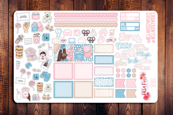 Girls Night Hobonichi Weeks Sticker Kit SP303