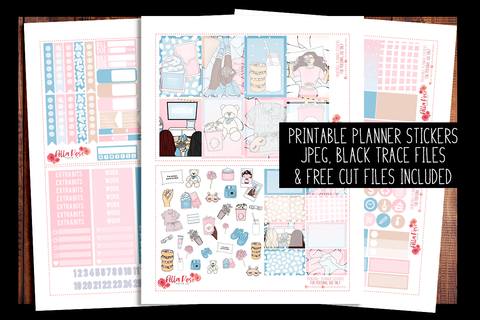 Girls Night Happy Planner Kit | PRINTABLE PLANNER STICKERS