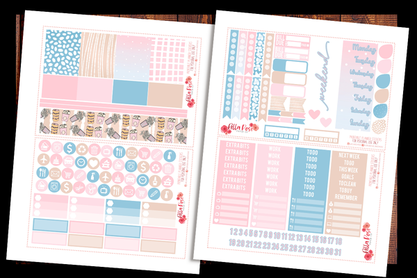 Girls Night Planner Kit | PRINTABLE PLANNER STICKERS