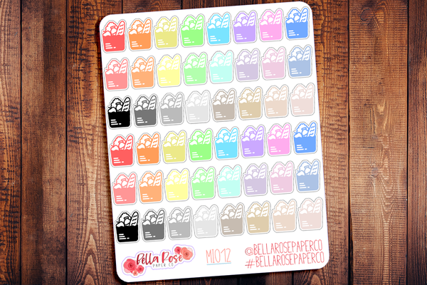 Groceries Mini Icon Planner Stickers MI012