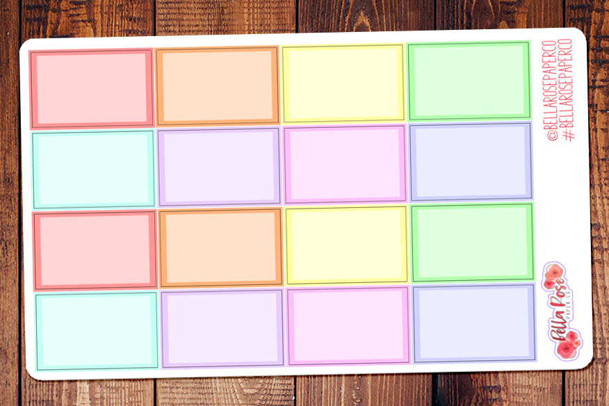 Pastel Half Box Planner Stickers
