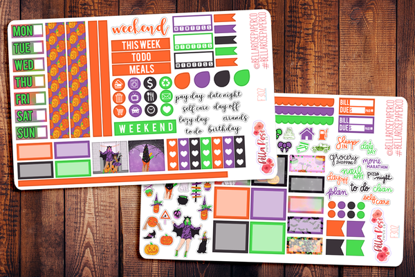 Happy Halloween Hobonichi Weeks Sticker Kit F302