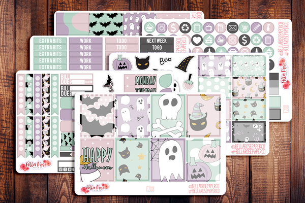 Pastel Halloween Planner Sticker Kit F208