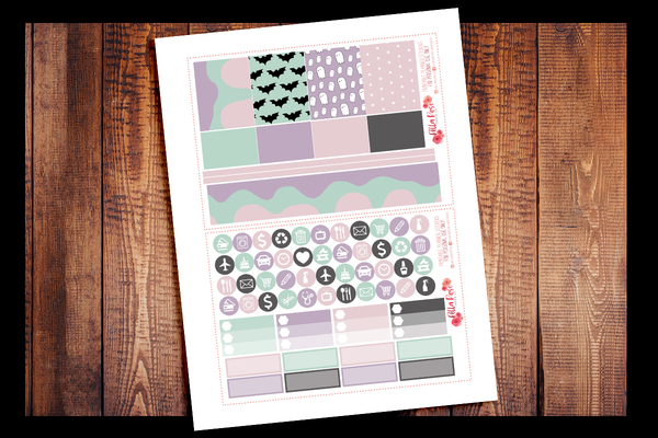 Pastel Halloween Happy Planner Kit | PRINTABLE PLANNER STICKERS