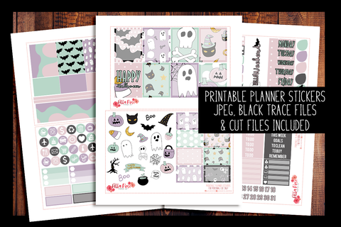 Pastel Halloween Planner Kit | PRINTABLE PLANNER STICKERS