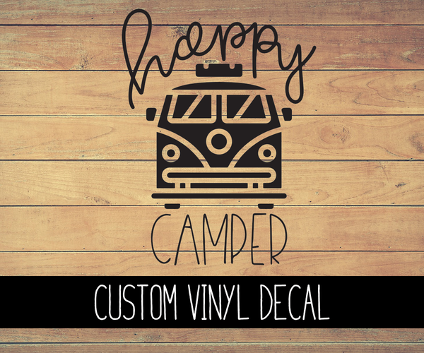 Happy Camper Vinyl Decal