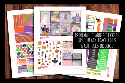 Happy Halloween Planner Kit | PRINTABLE PLANNER STICKERS
