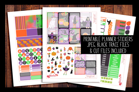 Happy Halloween Happy Planner Kit | PRINTABLE PLANNER STICKERS
