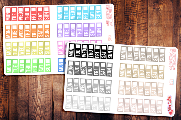 Hobonichi Weeks Date Covers Planner Stickers B070/B071