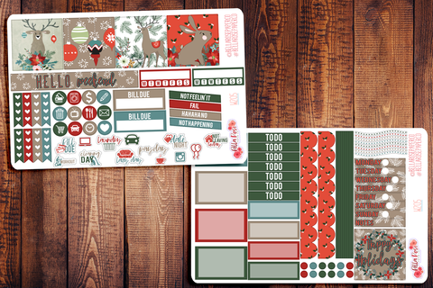 Happy Holidays Mini Happy Planner Sticker Kit W205