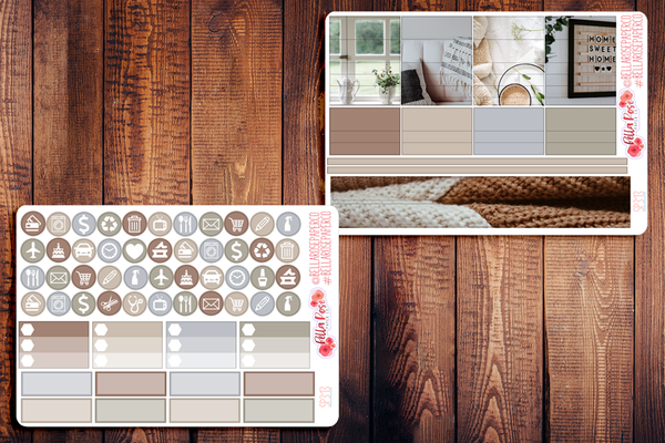 Stay Home Photo Planner Sticker Kit SP313