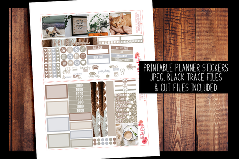Stay Home Photo Mini Happy Planner Kit | PRINTABLE PLANNER STICKERS