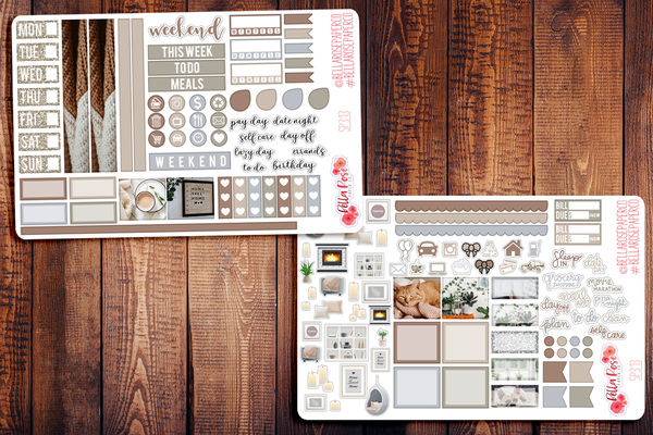 Stay Home Photo Hobonichi Weeks Sticker Kit SP313
