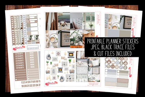Stay Home Photo Happy Planner Kit | PRINTABLE PLANNER STICKERS