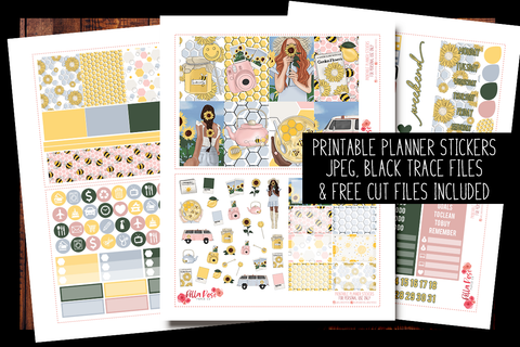 Honey Pot Happy Planner Kit | PRINTABLE PLANNER STICKERS
