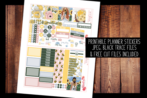 Honey Pot Mini Happy Planner Kit | PRINTABLE PLANNER STICKERS