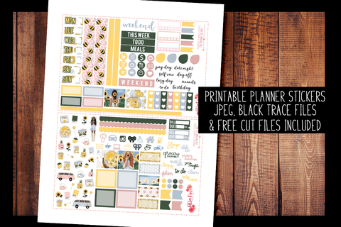 Honey Pot Hobonichi Weeks Kit | PRINTABLE PLANNER STICKERS