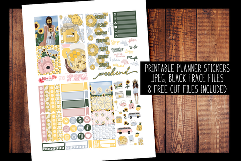 Honey Pot Mini Planner Kit | PRINTABLE PLANNER STICKERS